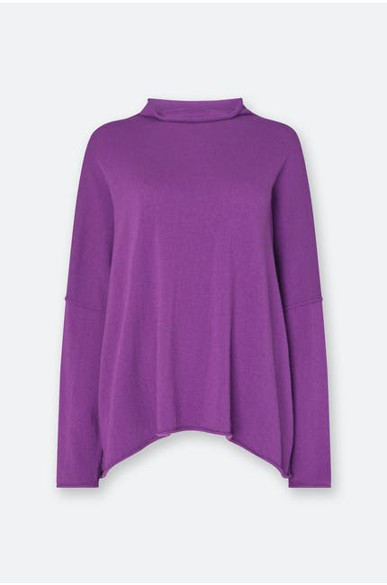 Cashmere Blend Roll Neck Knit