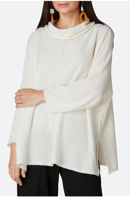 Cashmere Blend Roll Neck Sweater