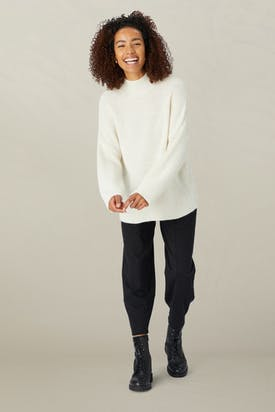 Photo of Alpaca Blend Ribbed Sweater