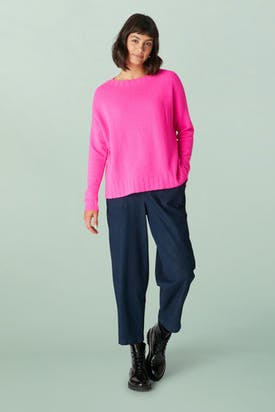 Photo of Cashmere Blend Crop Sweater