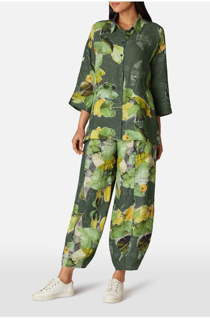 Photo of Leaf Print Trouser