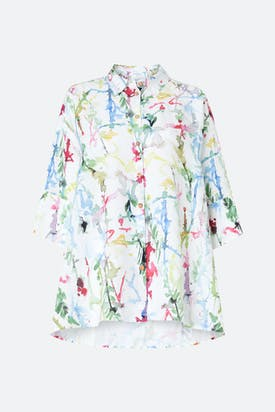 Photo of Squiggle Paint Linen Shirt