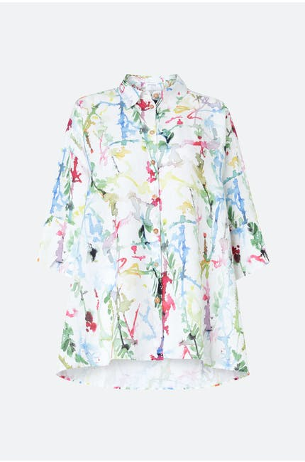 Grizas Squiggle Paint Linen Shirt