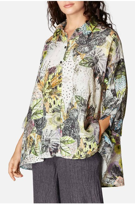 Photo of Flared Floral Shirt