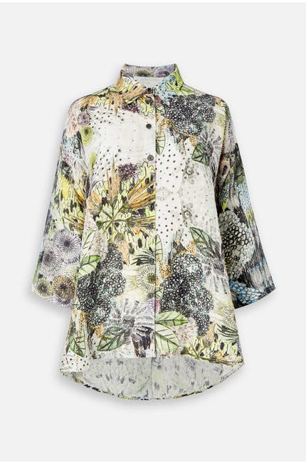 Flared Floral Shirt