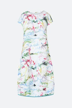 Photo of Squiggle Paint Linen Dress