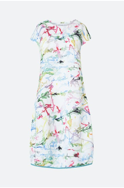 Grizas Squiggle Paint Linen Dress