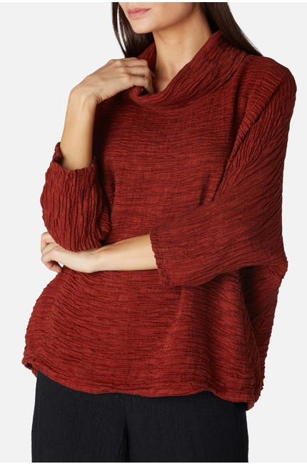 Long Cowl Neck Top