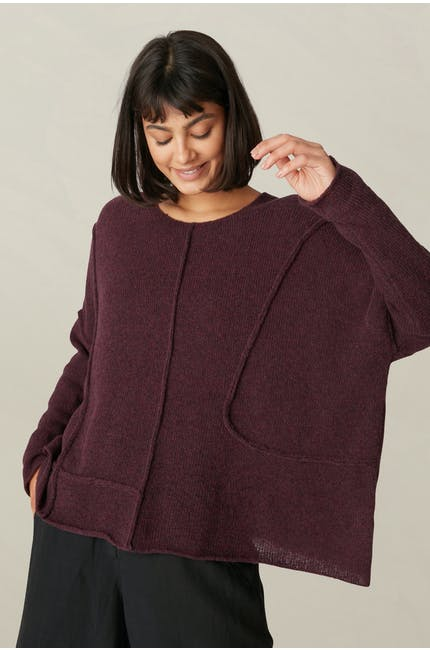 Seamed Knit Top