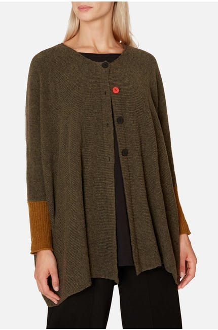 Red Button Cardi