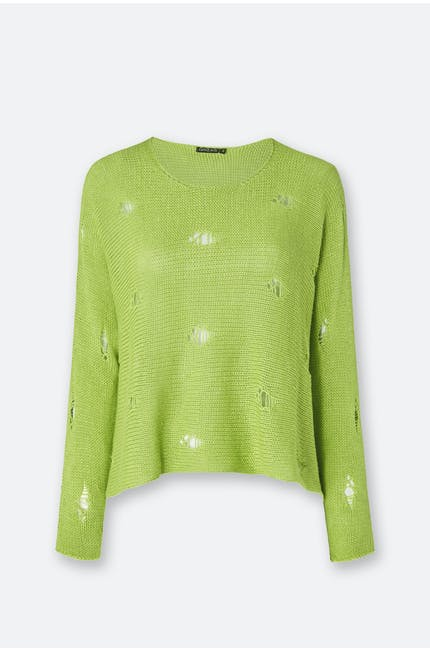 Drop Stitch Knitted Jumper
