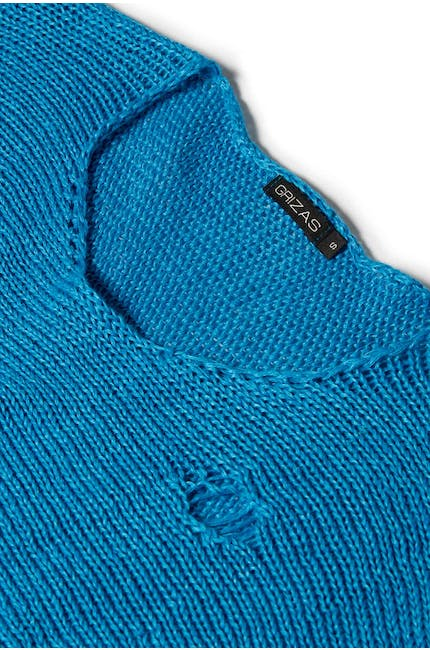 Photo of Drop Stitch Knit Sweater