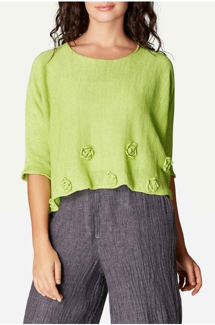 Rose Hem Knitted Jumper