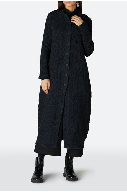 Bubble Hem Coat