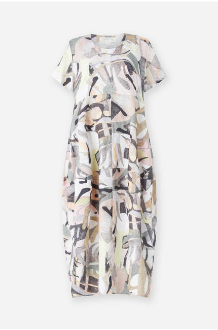 Abstract Tulip Dress