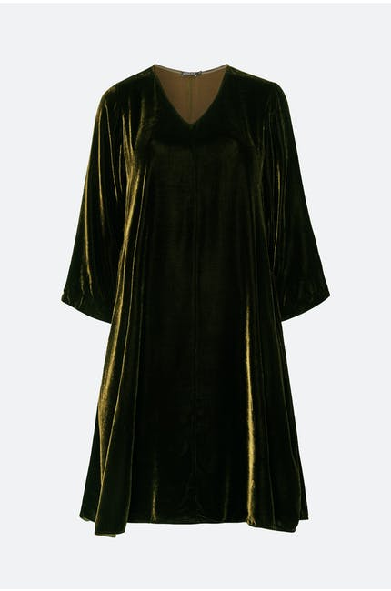 Photo of Velvet V Neck Dress