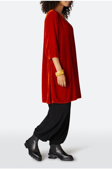 Grizas Velvet V Neck Dress