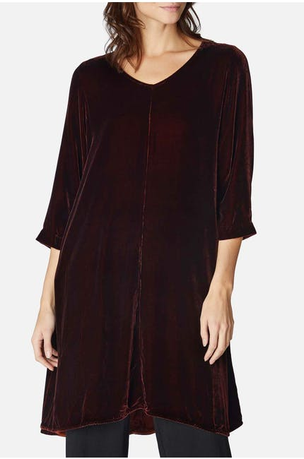 Photo of V Neck Silk Dress
