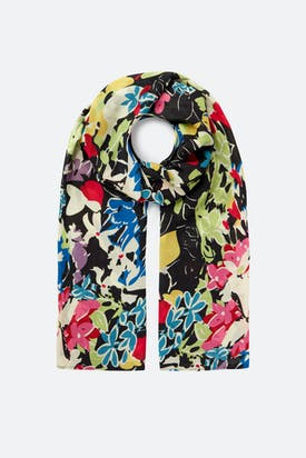 Photo of Vintage Floral Print Scarf