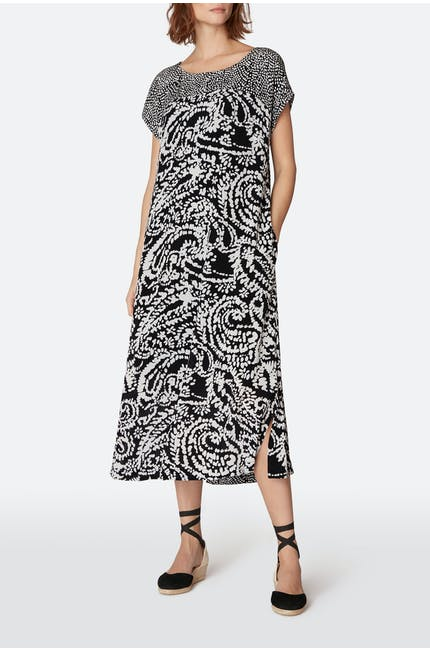 Aegean Print A-Line Dress