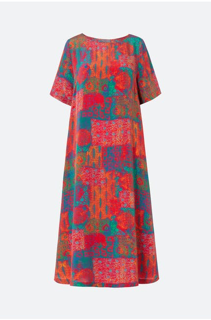 Photo of Geo Woodblock Silk Dress