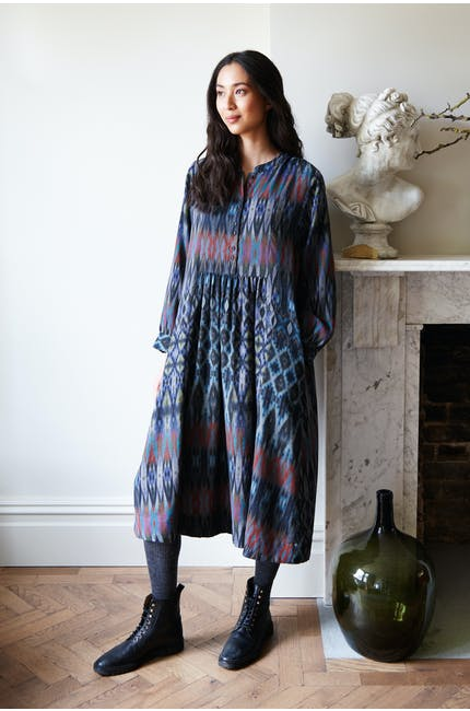 Photo of Patched Ikat Print Dress