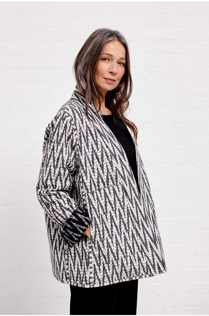Photo of Reversible Cotton Ikat Jacket