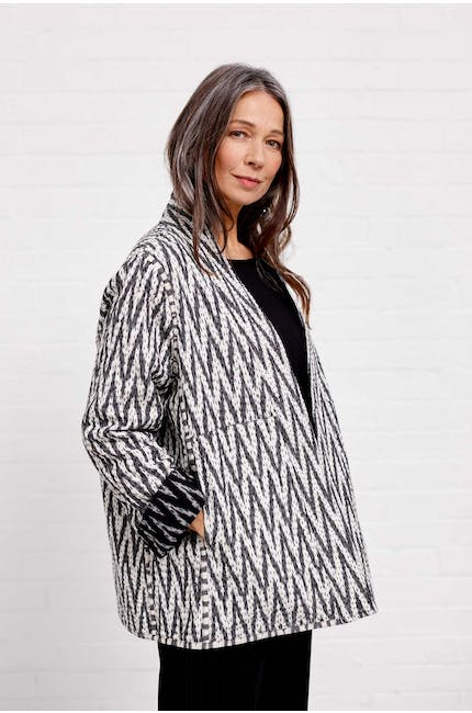Reversible Cotton Ikat Jacket