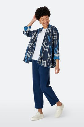 Photo of Reversible Ikat Print Jacket