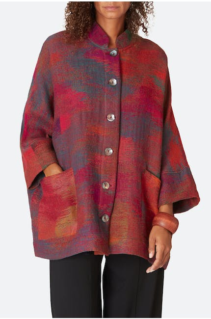 Photo of Ikat Indian Blanket Jacket