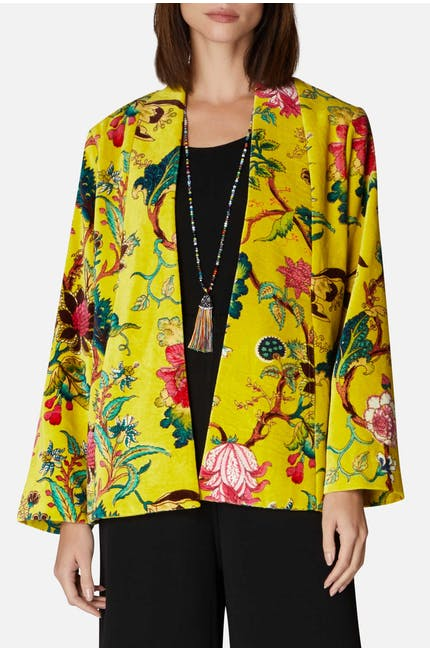Photo of Floral Printed Velvet Jacket