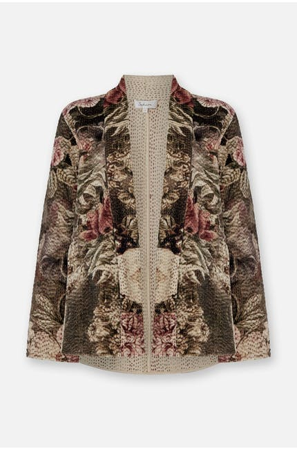 Photo of Botanical Print Velvet Jacket