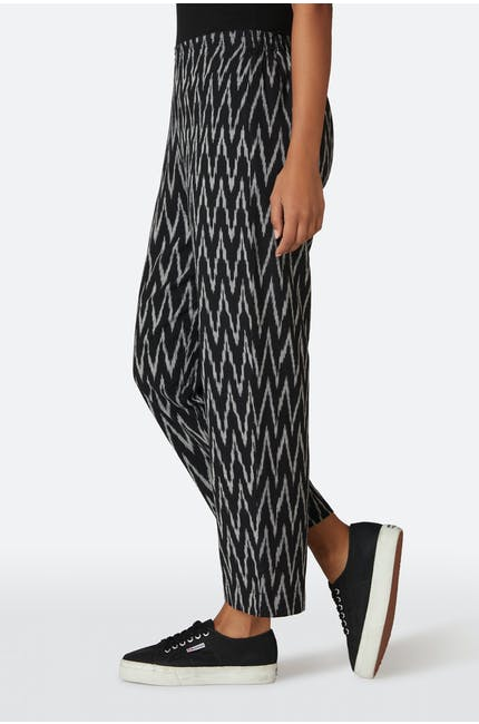 Patched Ikat Slim Trouser