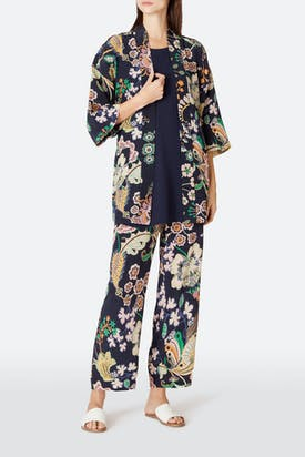 Photo of Floral Symphony Silk Trouser