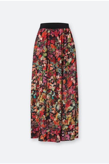 Photo of Painterly Floral Print Skirt