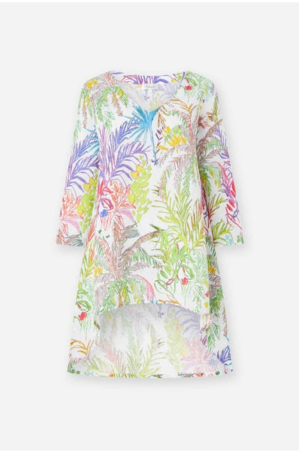 Photo of Chalk Jungle Linen Tunic