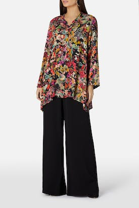 Photo of Painterly Floral Print Shirt