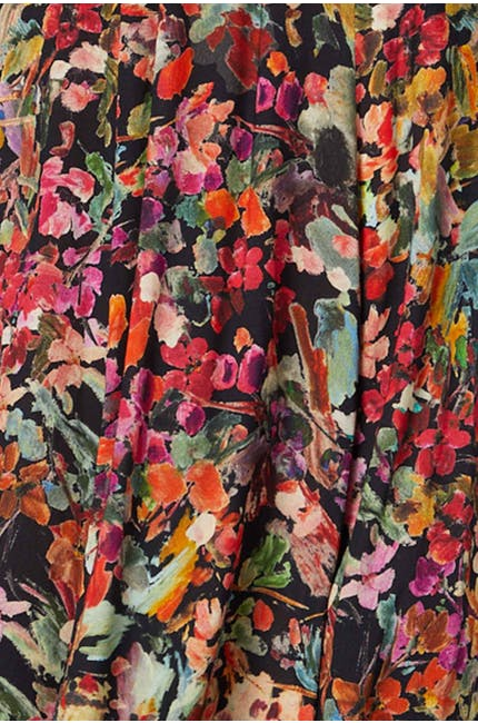 Painterly Floral Print Shirt