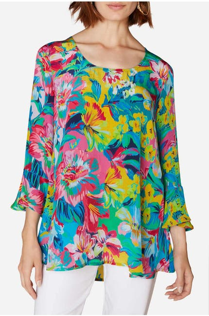 Summer Floral Print Top