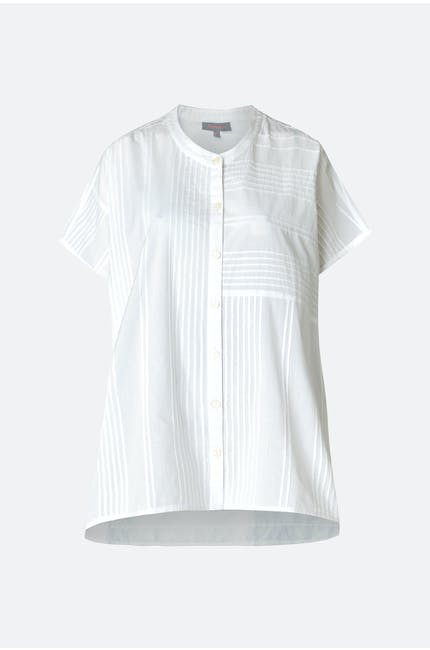 Cotton Pleat Voile Shirt