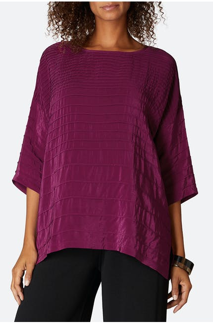 Pleated Viscose Boxy Top