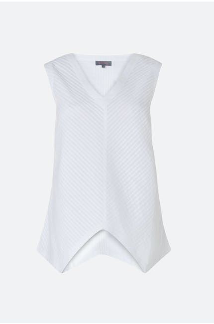 Cotton Pleat Voile Vest