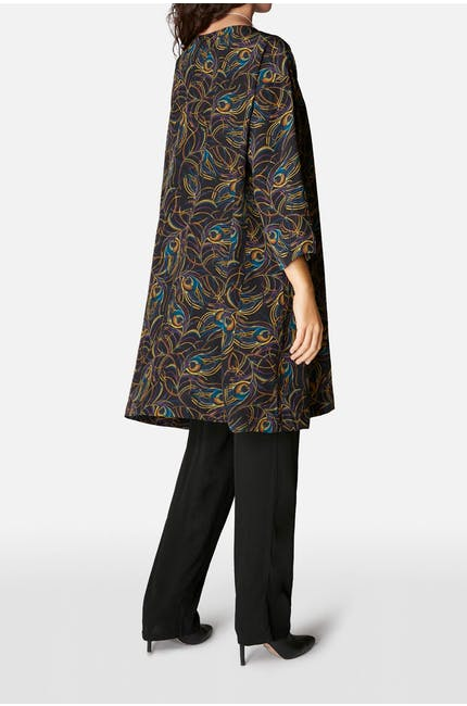 Peacock Feather Silk Tunic