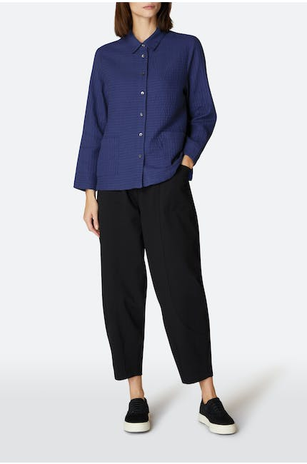 Soft Cotton Pintuck Shirt