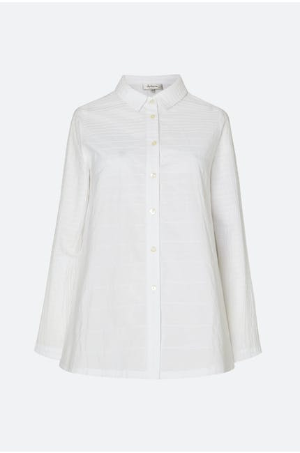 Pintuck Cotton Shirt