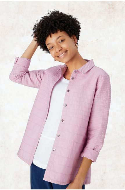 Photo of Pintuck Cotton Boxy Shirt