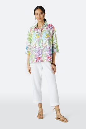 Photo of Chalk Jungle Linen Shirt
