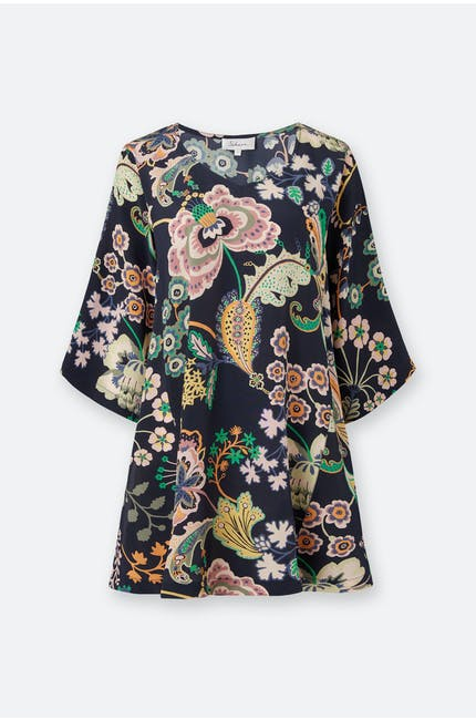 Photo of Floral Symphony Silk Tunic