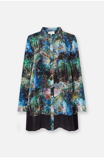 Photo of Rainforest Print Double Layer Shirt