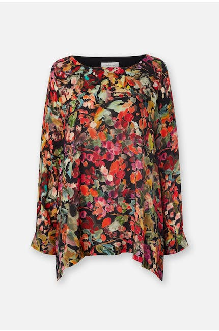 Painterly Floral Print Top